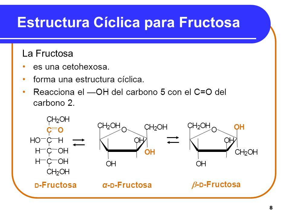 Estructura Cíclica para Fructosa
