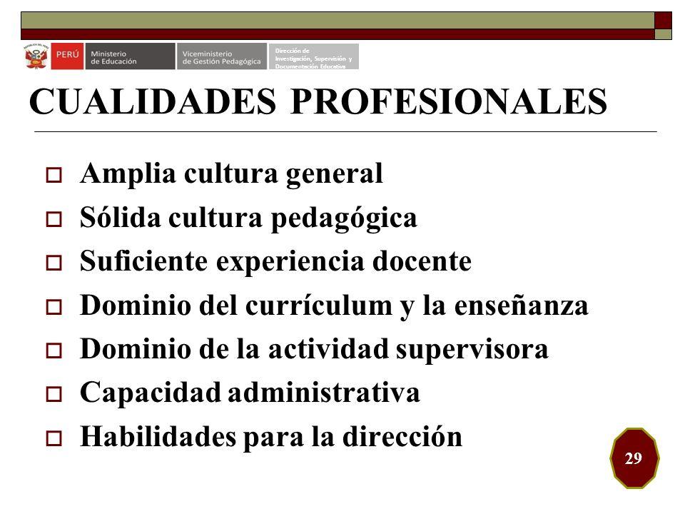 CUALIDADES PROFESIONALES