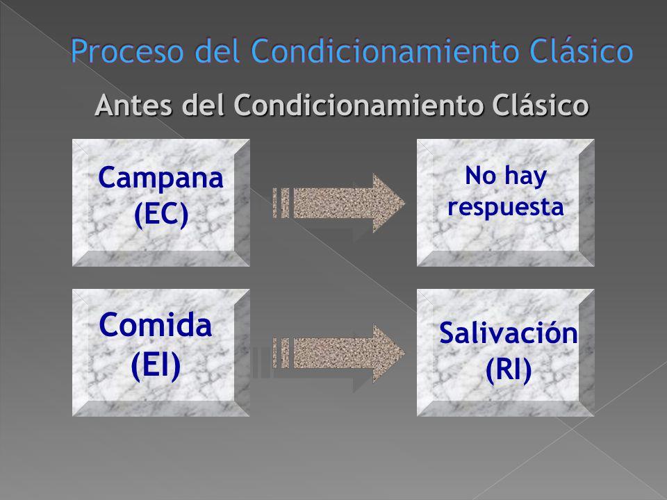 Proceso del Condicionamiento Clásico