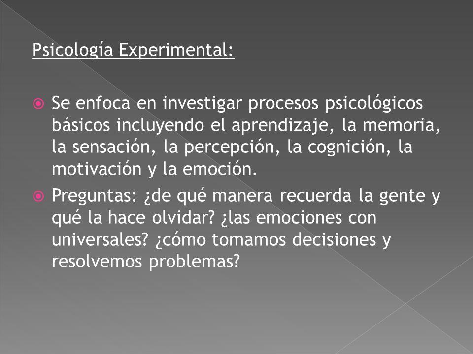 Psicología Experimental: