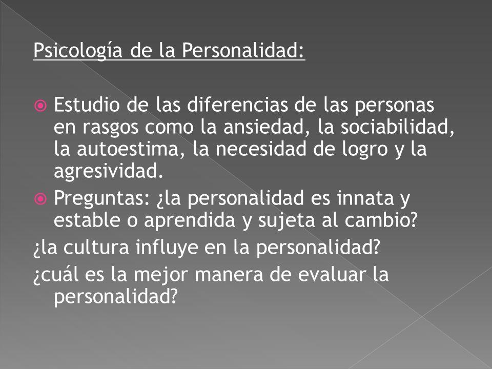 Psicología de la Personalidad: