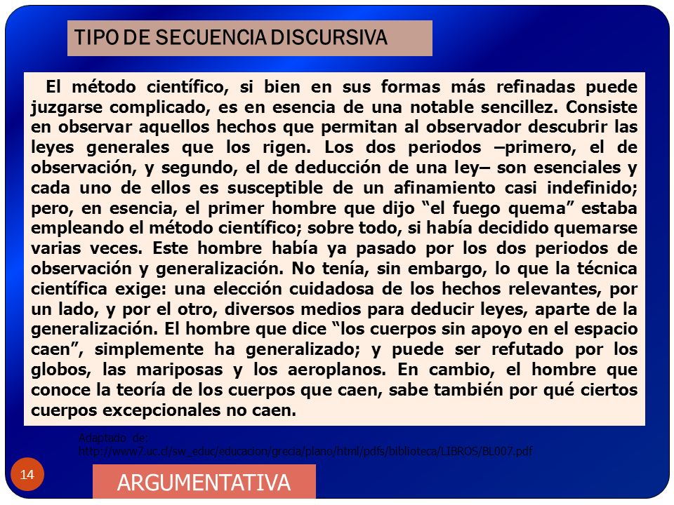 TIPO DE SECUENCIA DISCURSIVA