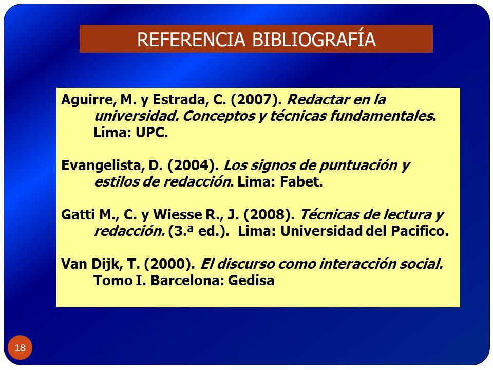 REFERENCIA BIBLIOGRAFÍA