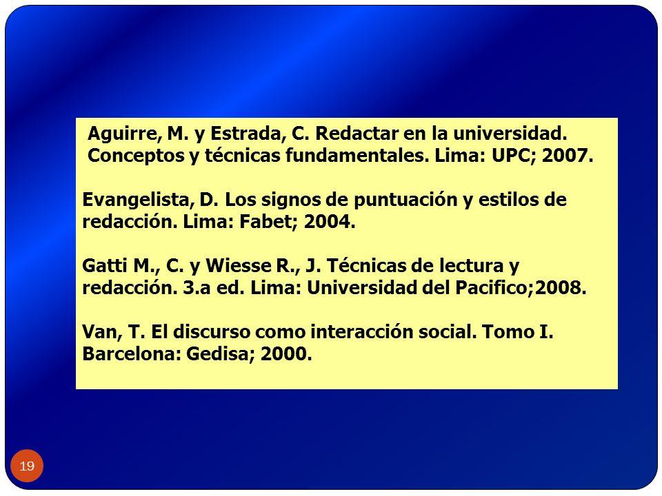 Aguirre, M. y Estrada, C. Redactar en la universidad.