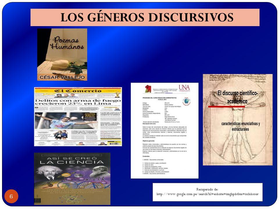 LOS GÉNEROS DISCURSIVOS