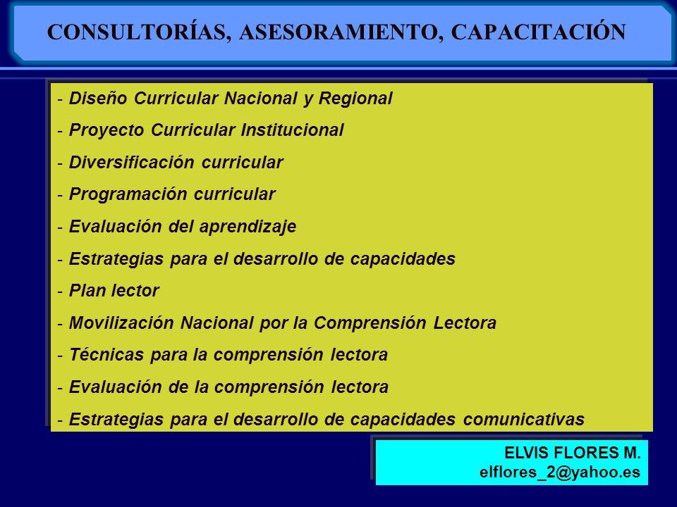 CONSULTORÍAS, ASESORAMIENTO, CAPACITACIÓN