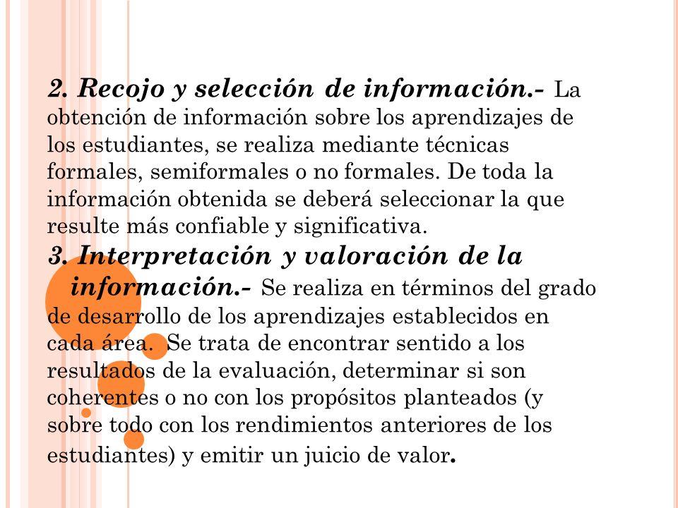 2. Recojo y selección de información