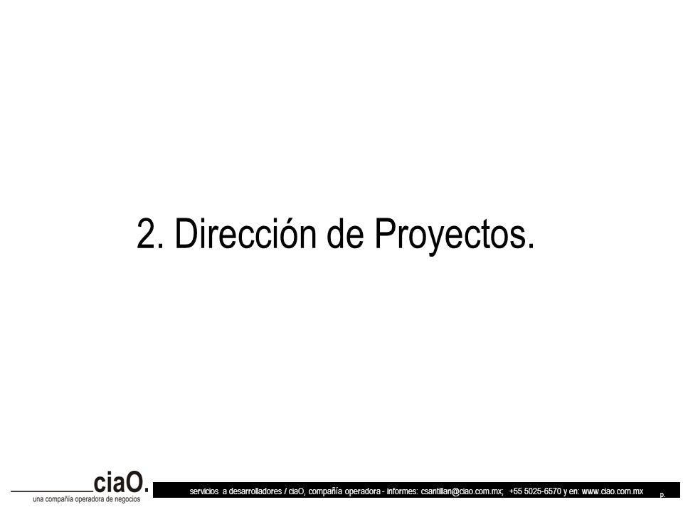 2. Dirección de Proyectos.