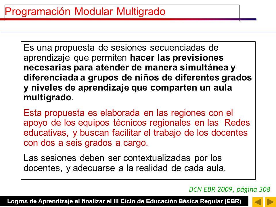 Programación Modular Multigrado