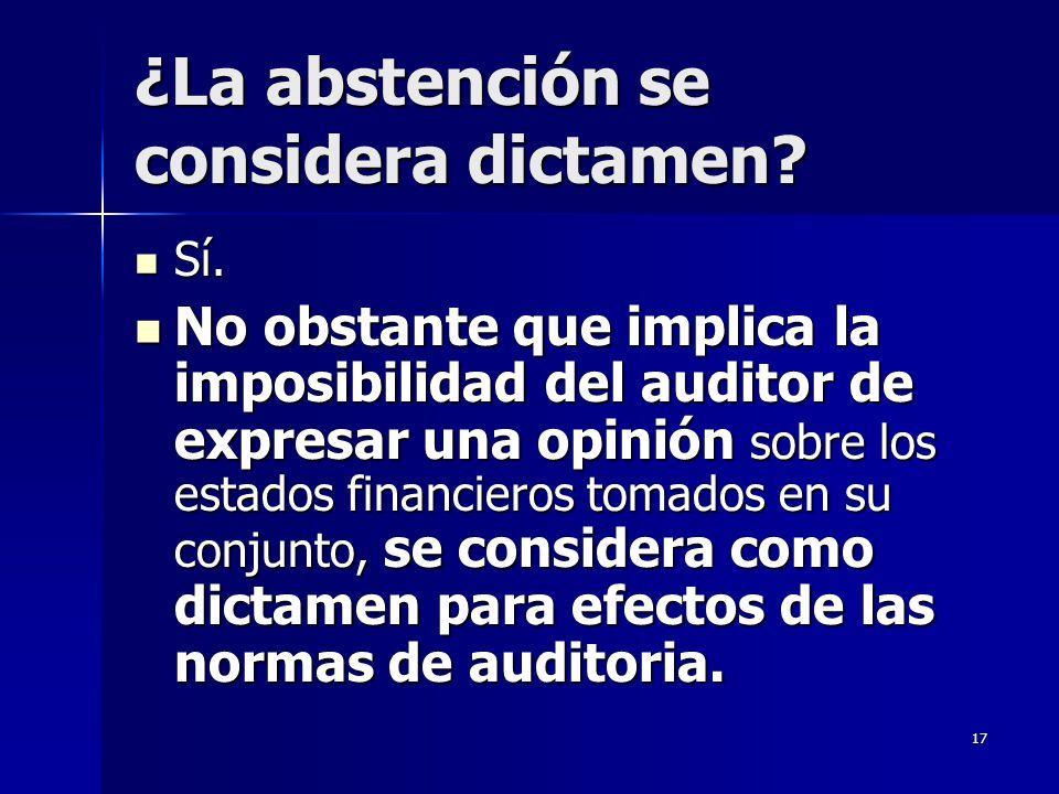 ¿La abstención se considera dictamen