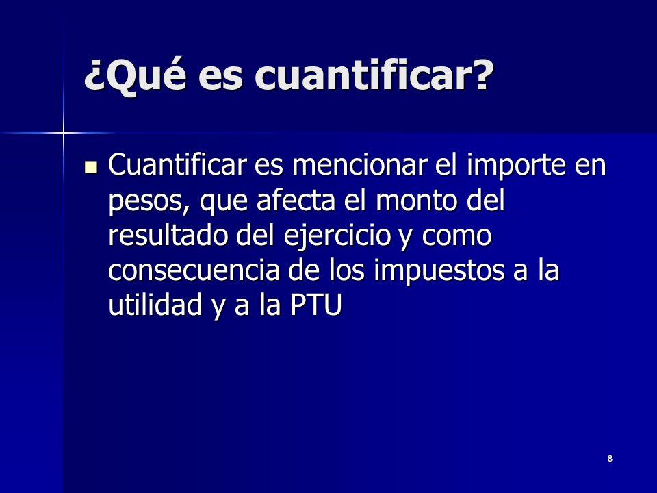 ¿Qué es cuantificar