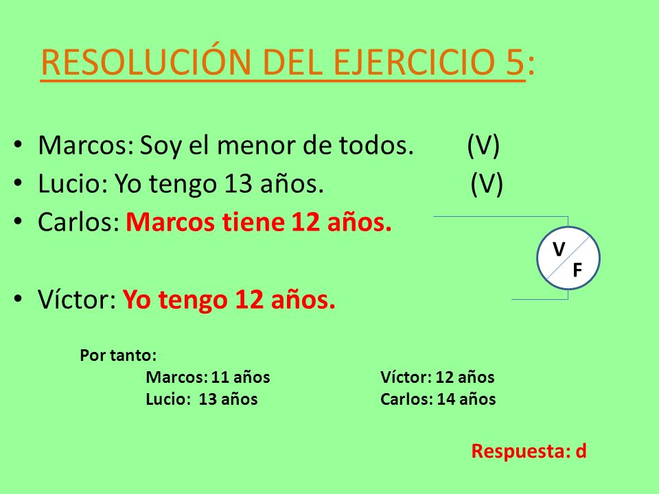 RESOLUCIÓN DEL EJERCICIO 5: