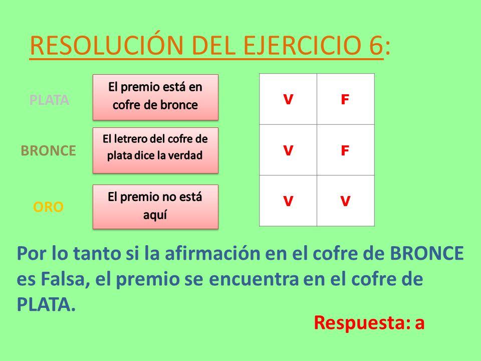 RESOLUCIÓN DEL EJERCICIO 6: