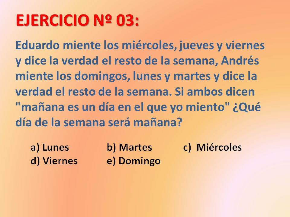 EJERCICIO Nº 03: