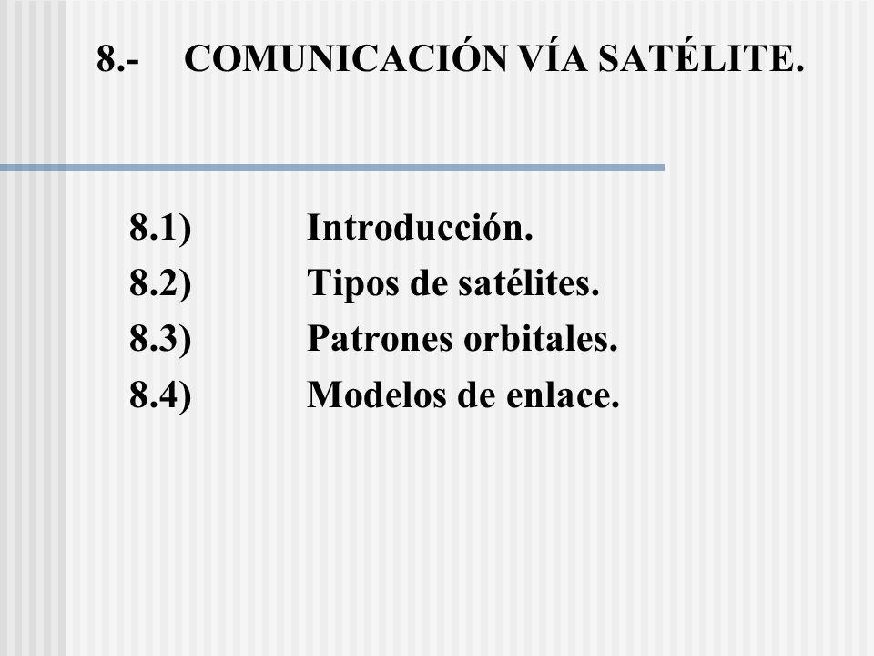 8.- COMUNICACIÓN VÍA SATÉLITE.