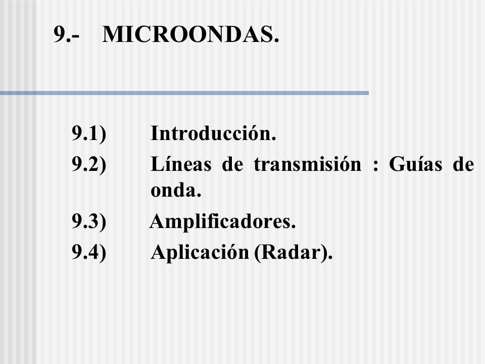 9.- MICROONDAS. 9.1) Introducción.