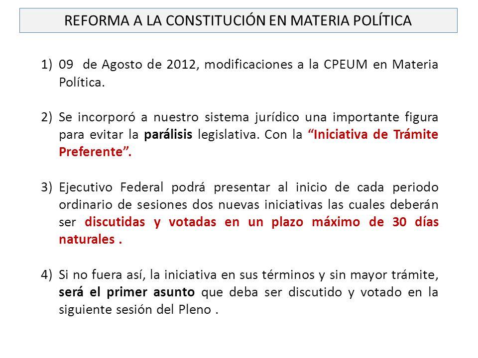 REFORMA A LA CONSTITUCIÓN EN MATERIA POLÍTICA