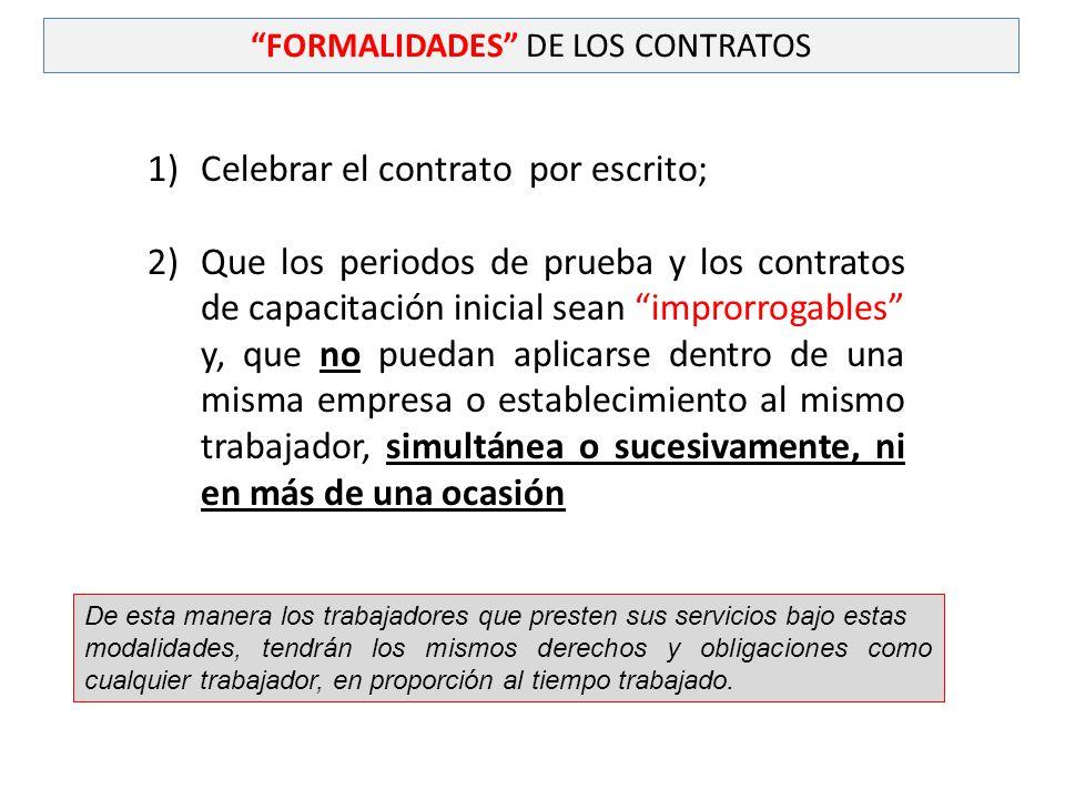 FORMALIDADES DE LOS CONTRATOS