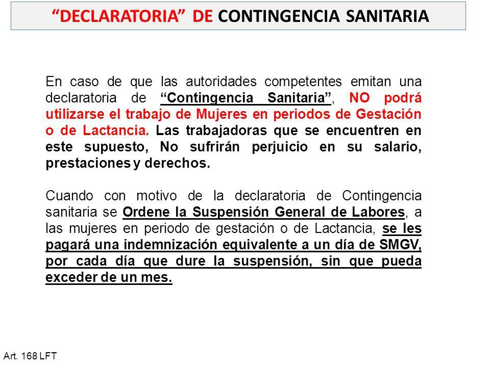 DECLARATORIA DE CONTINGENCIA SANITARIA