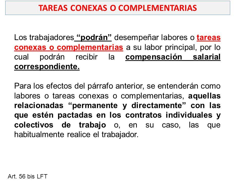 TAREAS CONEXAS O COMPLEMENTARIAS
