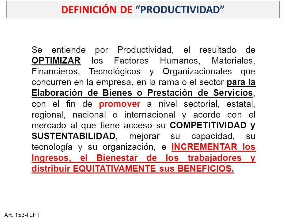 DEFINICIÓN DE PRODUCTIVIDAD
