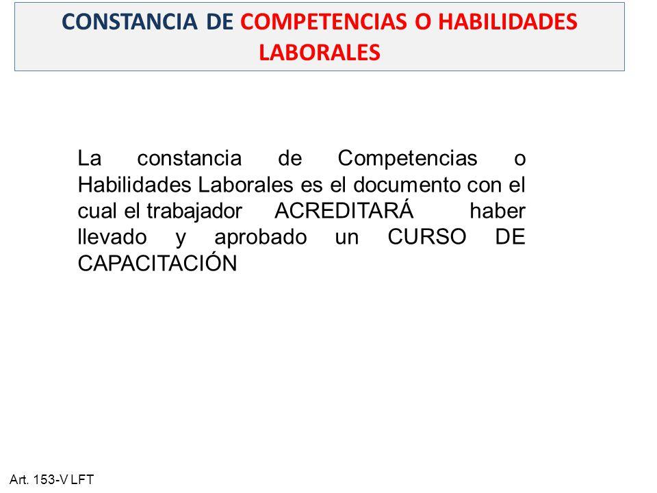 CONSTANCIA DE COMPETENCIAS O HABILIDADES LABORALES