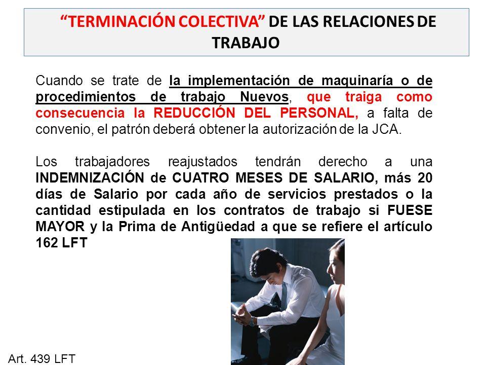 TERMINACIÓN COLECTIVA DE LAS RELACIONES DE TRABAJO
