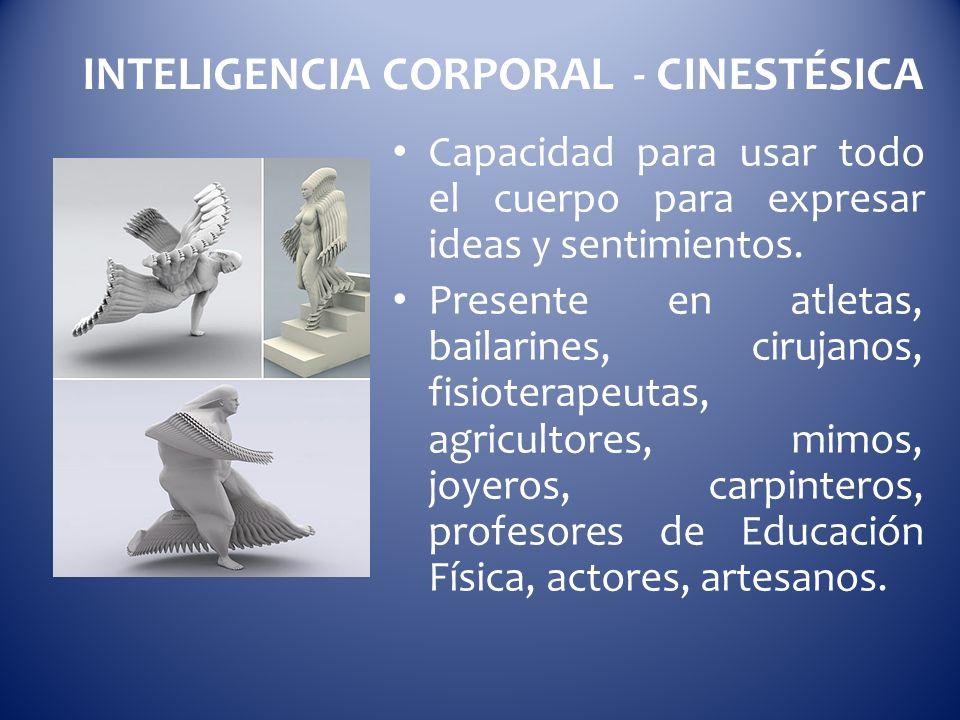 INTELIGENCIA CORPORAL - CINESTÉSICA