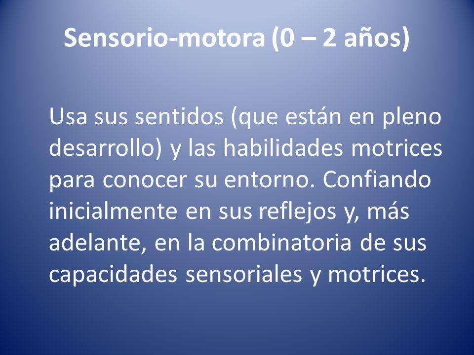 Sensorio-motora (0 – 2 años)