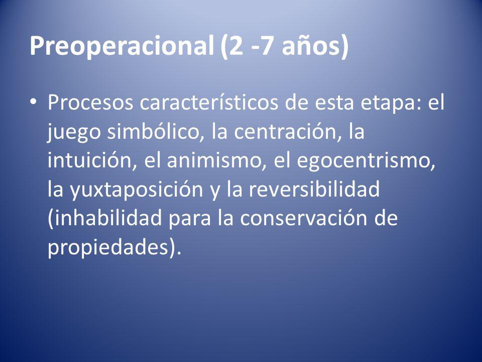 Preoperacional (2 -7 años)