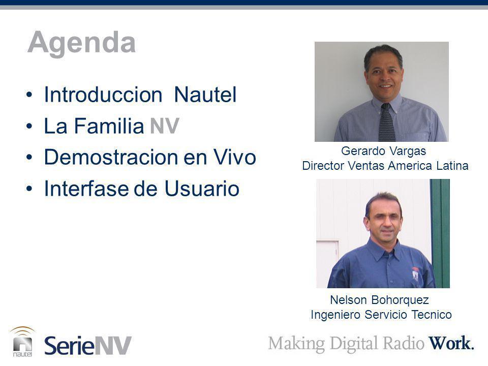 Agenda Introduccion Nautel La Familia NV Demostracion en Vivo