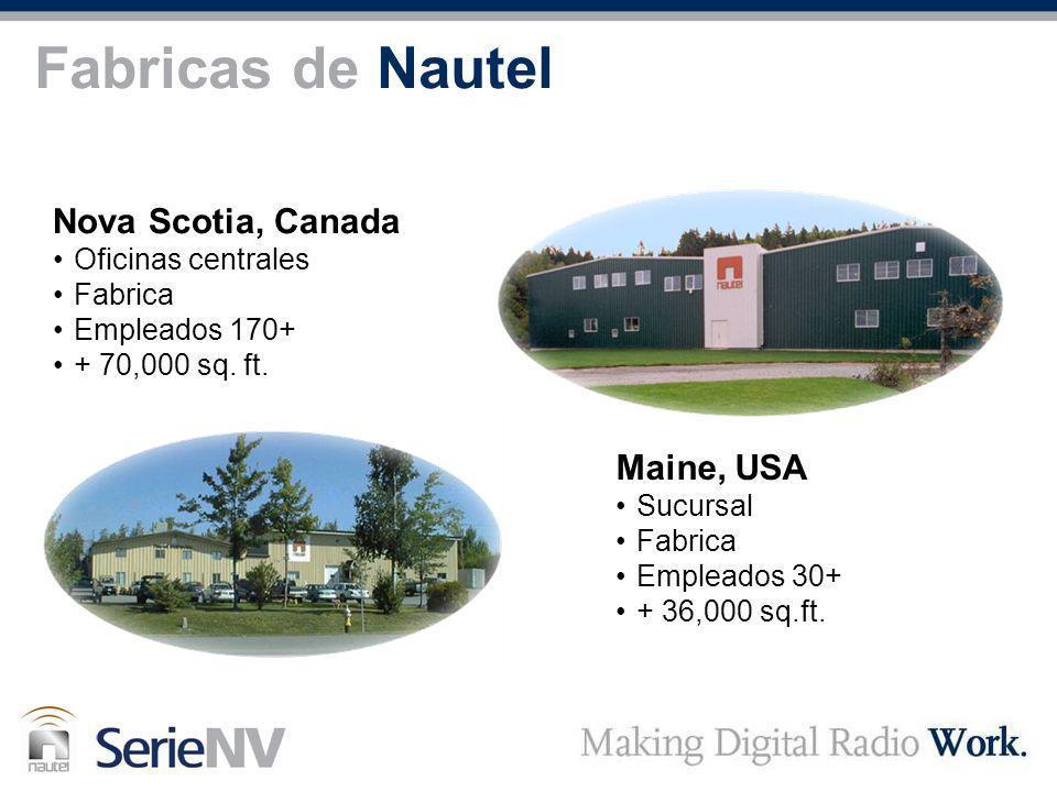 Fabricas de Nautel Nova Scotia, Canada Maine, USA Oficinas centrales