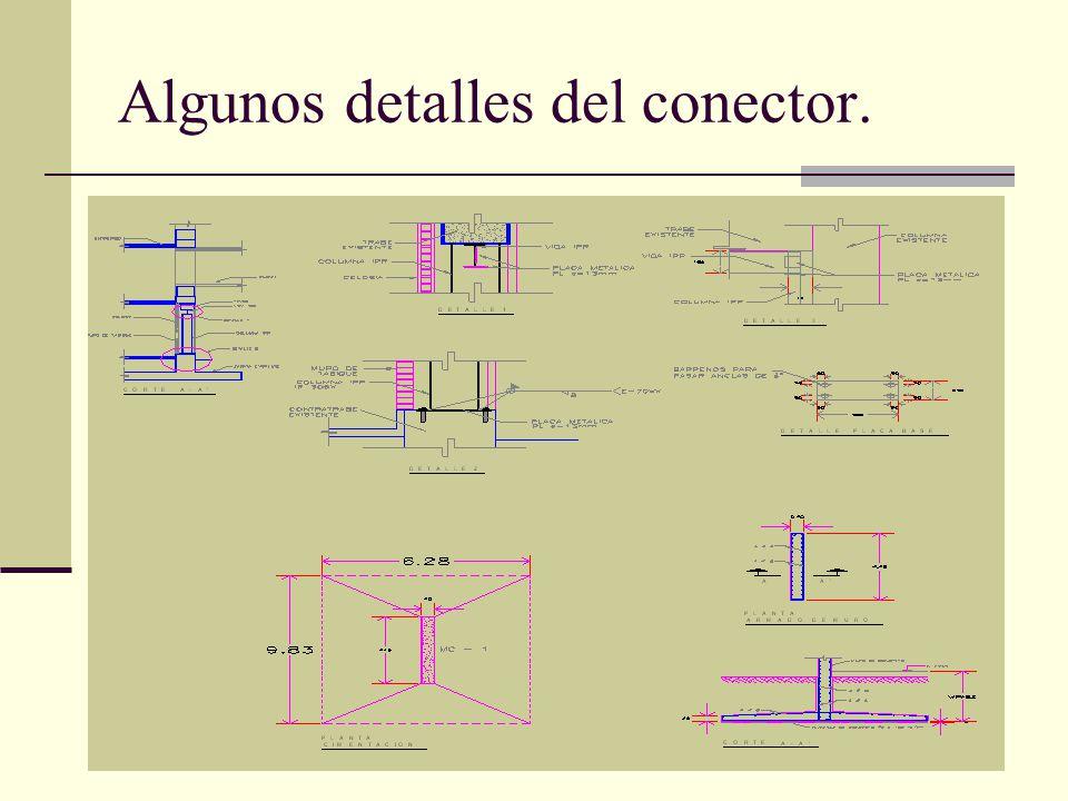 Algunos detalles del conector.