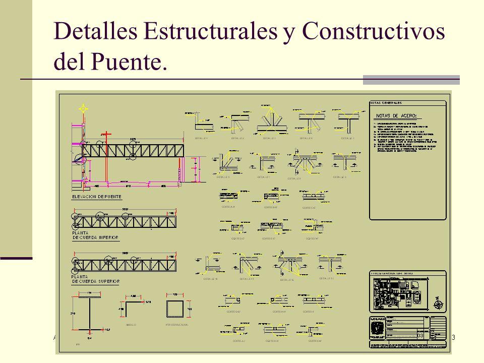 Detalles Estructurales y Constructivos del Puente.