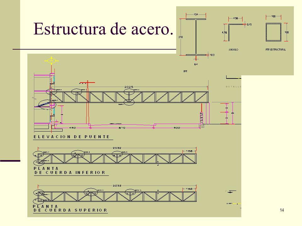 Estructura de acero. Arq. José Ma. Cruz García