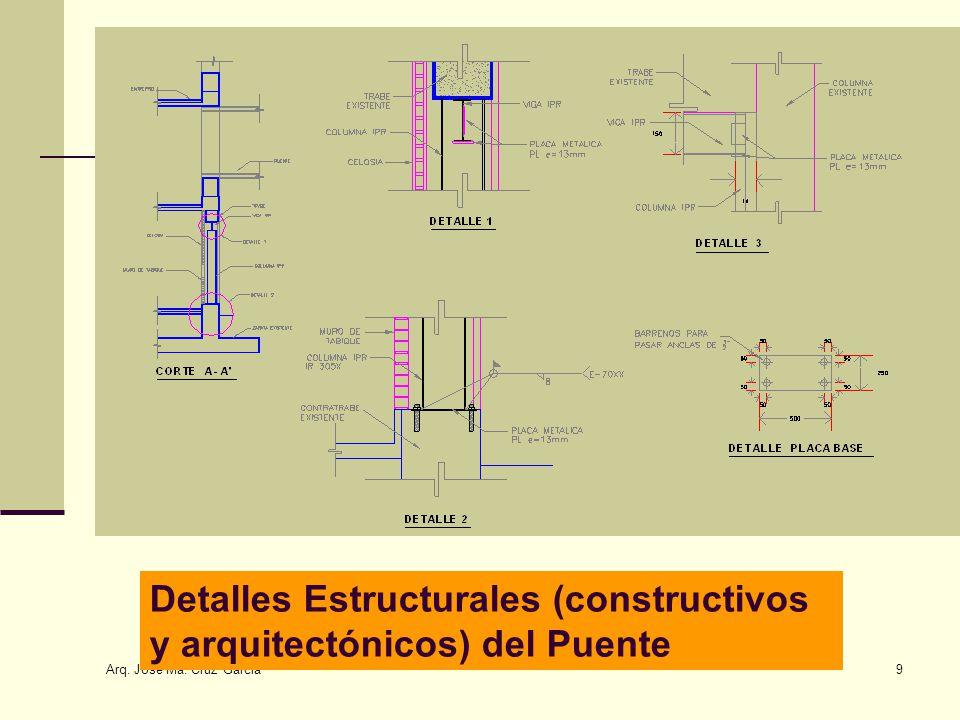 Detalles Estructurales (constructivos y arquitectónicos) del Puente