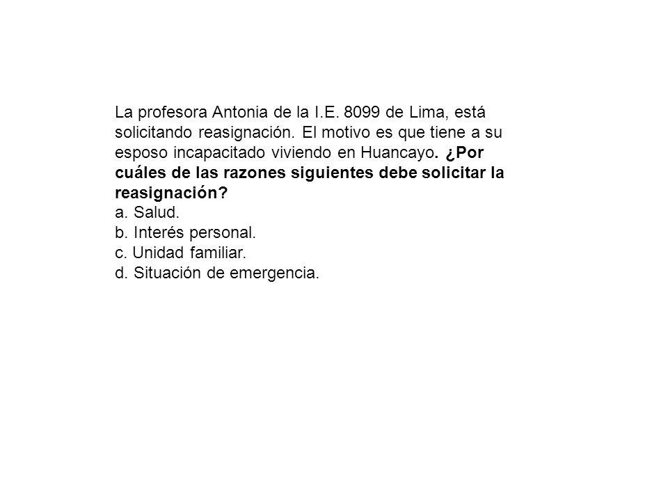 La profesora Antonia de la I. E