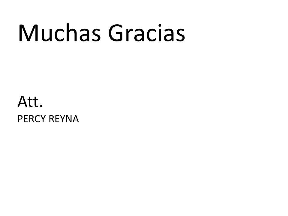 Muchas Gracias Att. PERCY REYNA