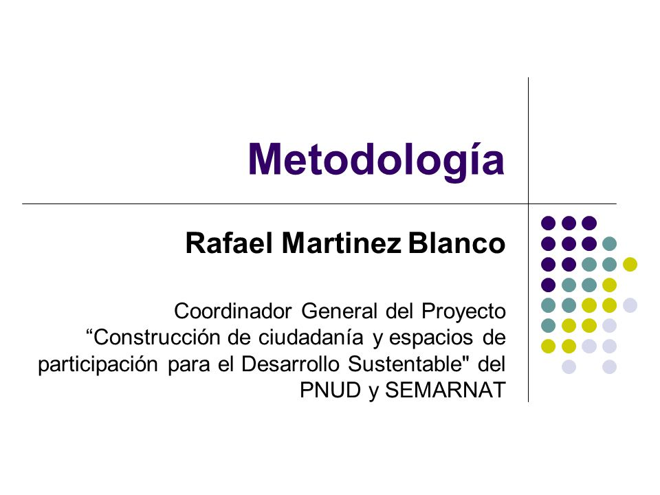 Metodología Rafael Martinez Blanco
