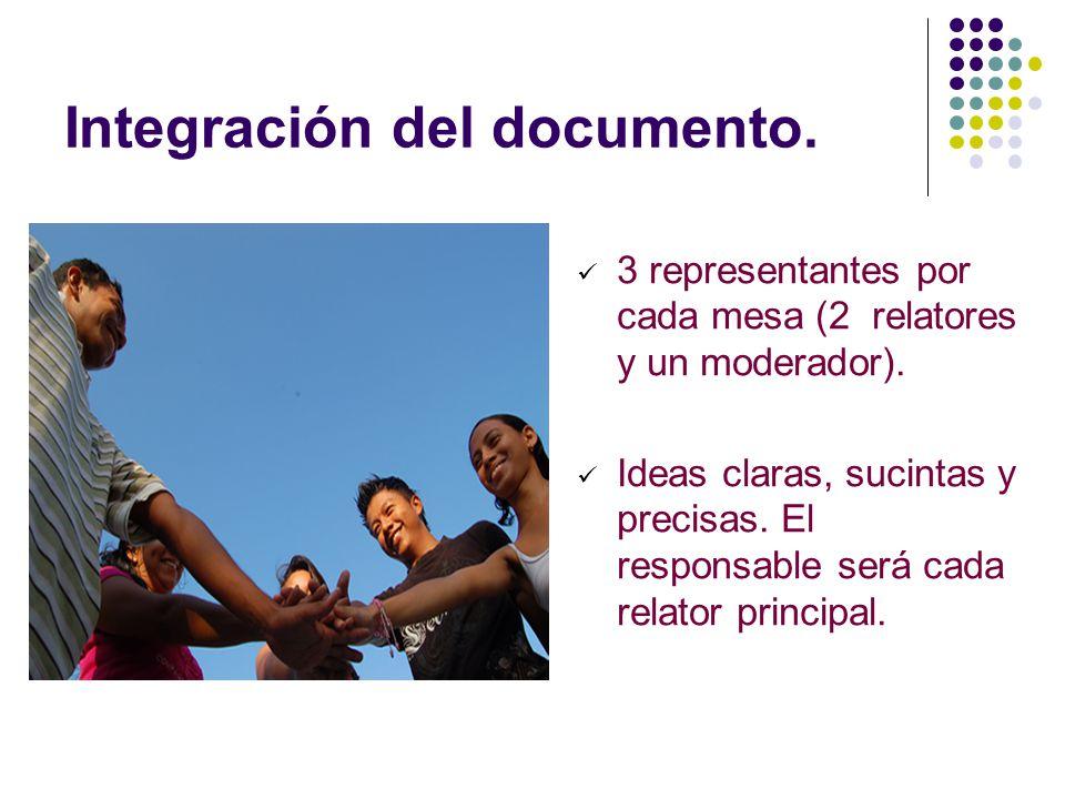Integración del documento.