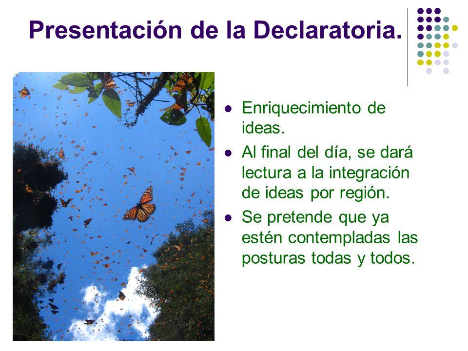 Presentación de la Declaratoria.