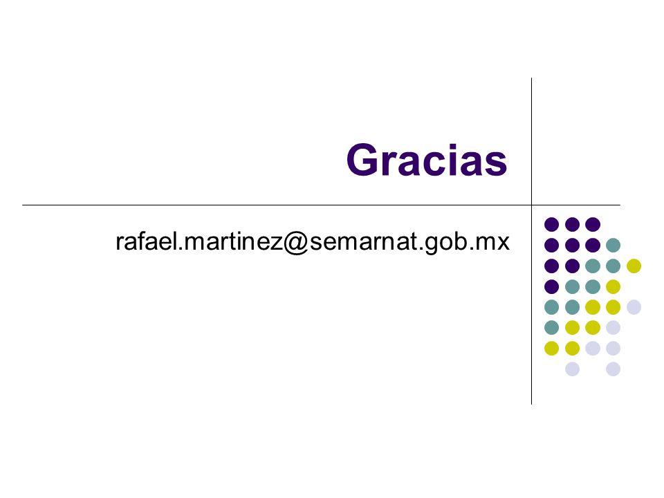 Gracias rafael.martinez@semarnat.gob.mx
