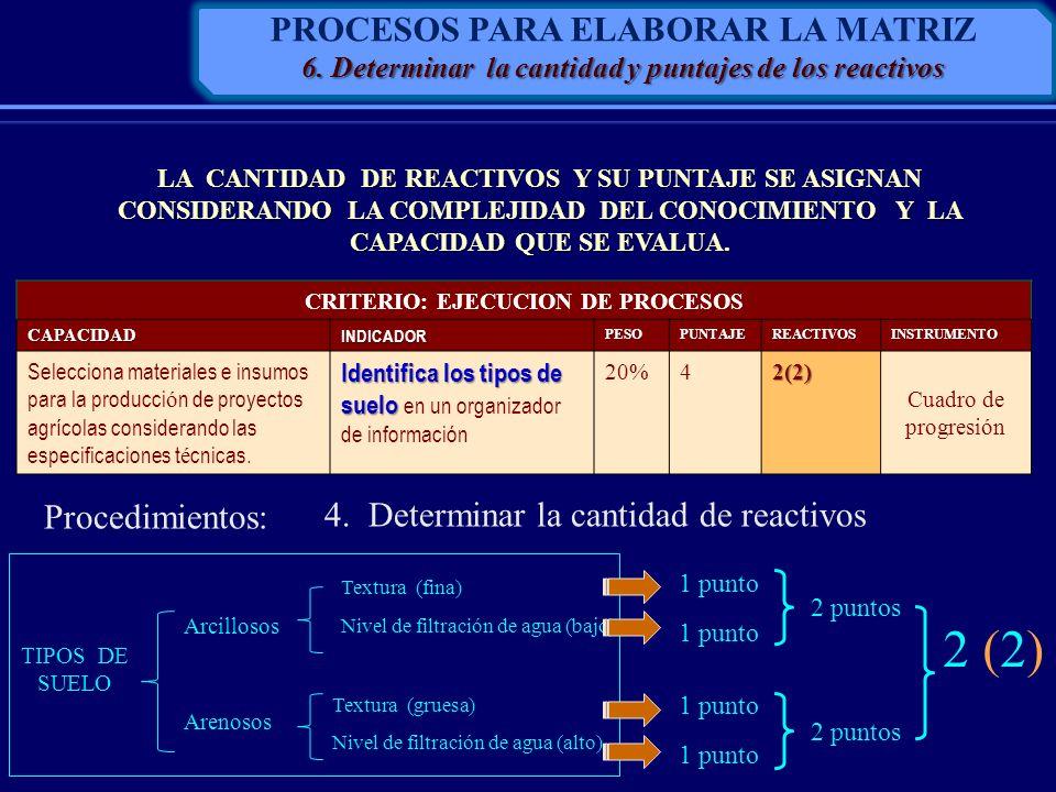 2 (2) PROCESOS PARA ELABORAR LA MATRIZ Procedimientos: