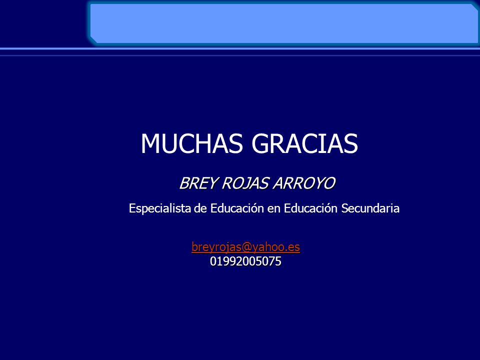 Especialista de Educación en Educación Secundaria