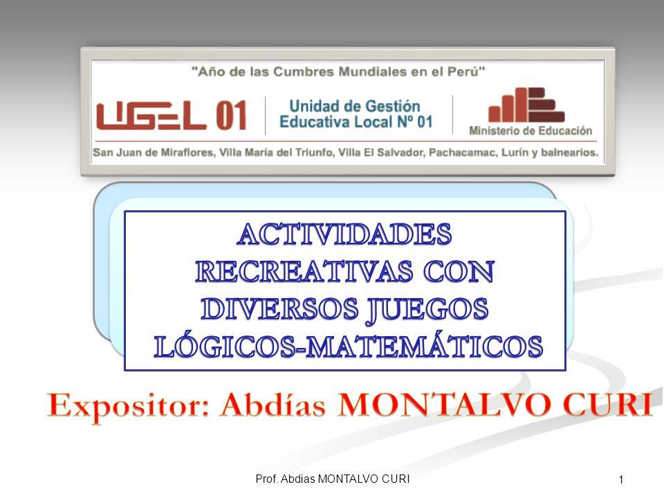 ACTIVIDADES RECREATIVAS CON DIVERSOS JUEGOS LÓGICOS-MATEMÁTICOS