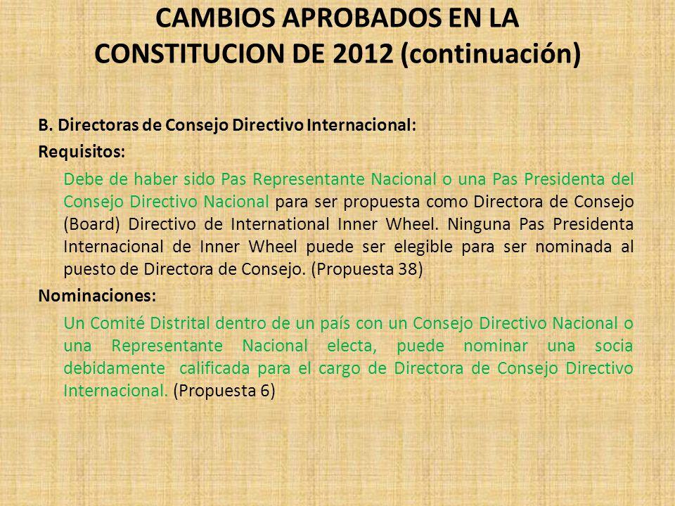 CAMBIOS APROBADOS EN LA CONSTITUCION DE 2012 (continuación)