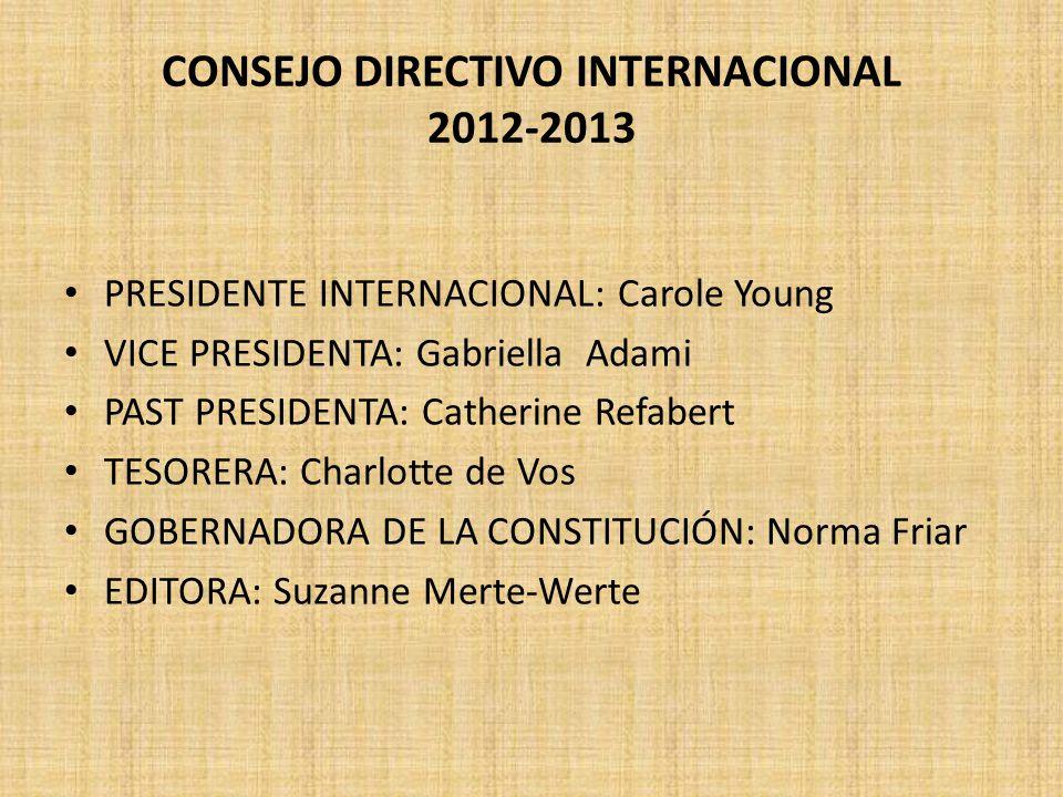 CONSEJO DIRECTIVO INTERNACIONAL 2012-2013