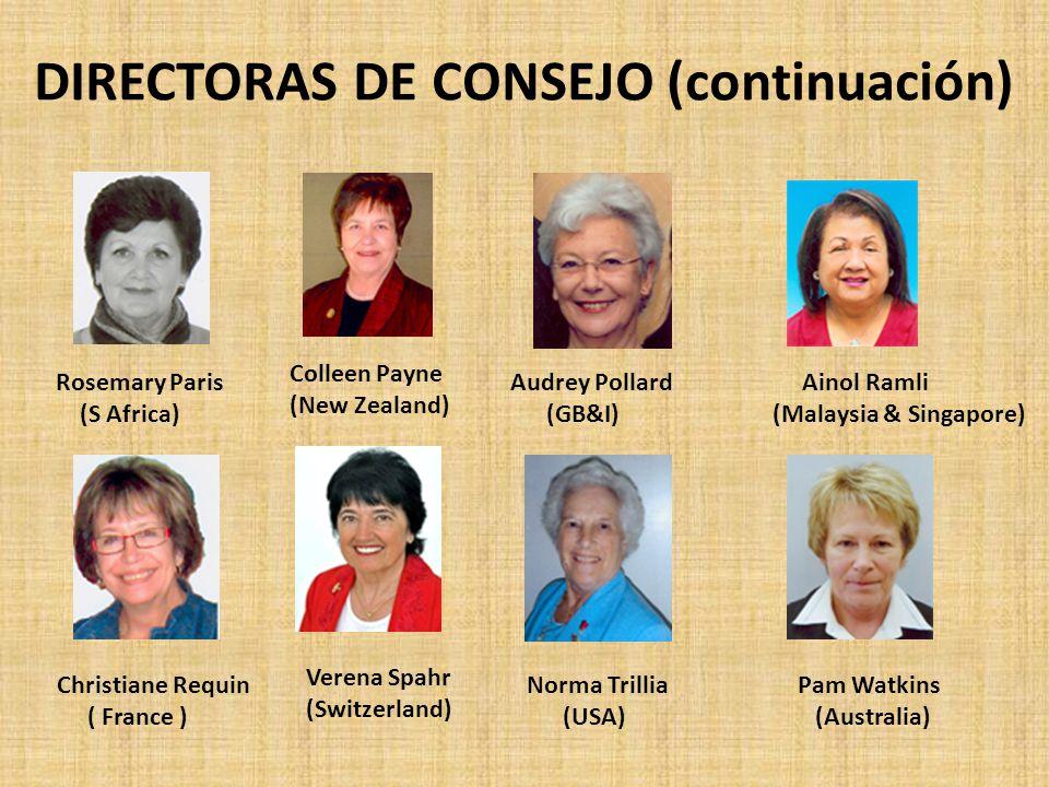 DIRECTORAS DE CONSEJO (continuación)