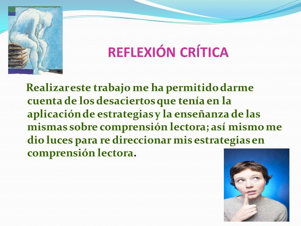 REFLEXIÓN CRÍTICA