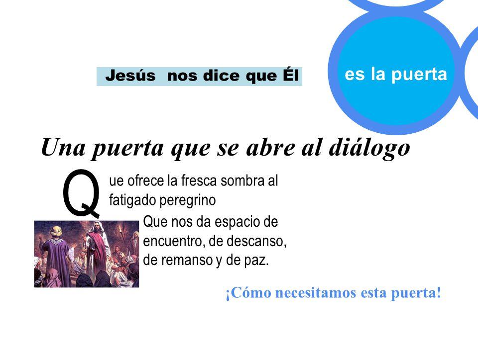 Q Una puerta que se abre al diálogo es la puerta Jesús nos dice que Él